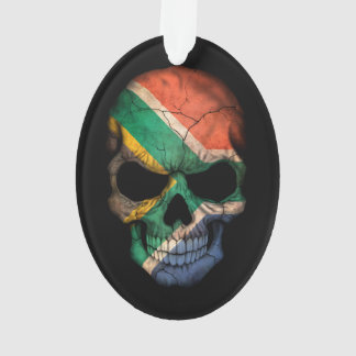 Customizable South African Flag Skull