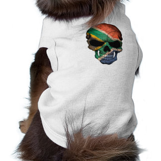 Customizable South African Flag Skull Dog Clothes