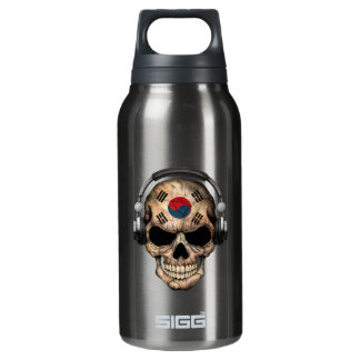 Customizable South Korean Dj Skull and Headphones Insulated Water Bottle