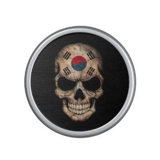 Customizable South Korean Flag Skull Speaker