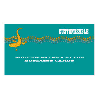 Customizable Southwestern Style Business Cards