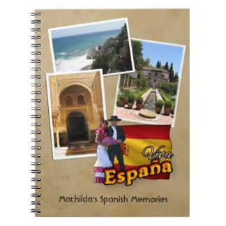 Customizable Spain Notebook