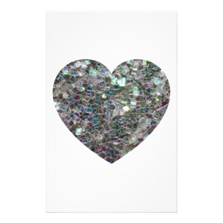 Customizable Sparkly colourful silver mosaic Heart Flyer