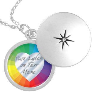 Customizable Spectrum Collection Locket Necklace