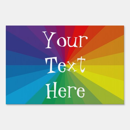 Customizable Spectrum Collection Sign
