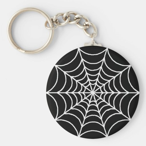 Customizable Spider Web Key Chains