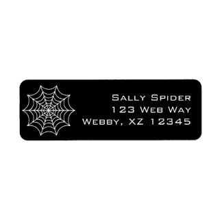 Customizable Spider Web Return Address Label