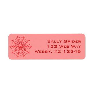 Customizable Spider Web Return Address Labels