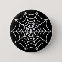 Customizable Spider Web Pinback Button