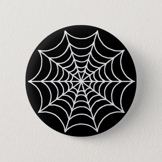 Customizable Spider Web Pinback Button