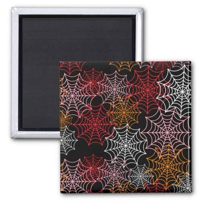 Customizable Spider Webs 2 Inch Square Magnet