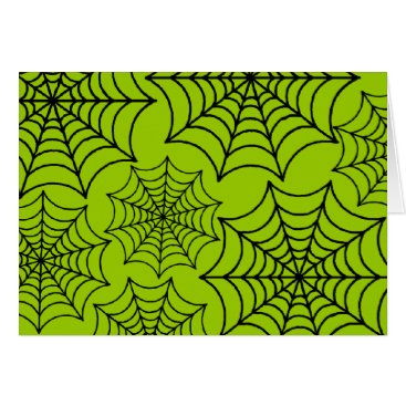 Halloween Themed Customizable Spider Webs Card