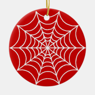 Customizable Spider Webs Ceramic Ornament