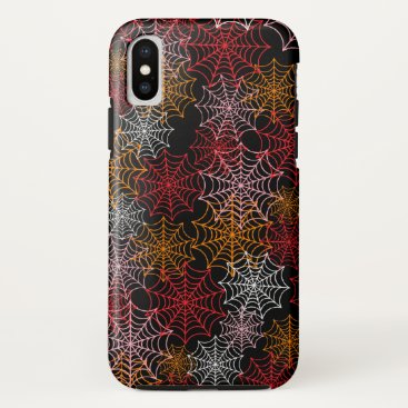 Halloween Themed Customizable Spider Webs iPhone X Case