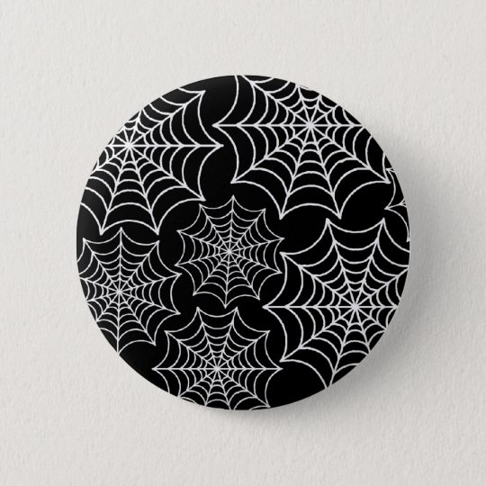 Customizable Spider Webs Pinback Button
