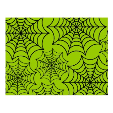 Halloween Themed Customizable Spider Webs Postcard