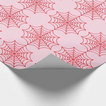 Halloween Themed Customizable Spider Webs Wrapping Paper