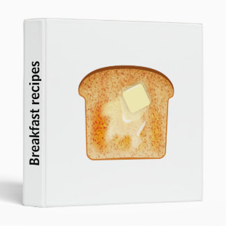 Customizable spine text - Butter on toast 3 Ring Binder