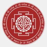 Customizable Spiritual Shree Yantra Classic Round Sticker
