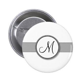 Customizable Split Monogram Seal Template Pinback Button