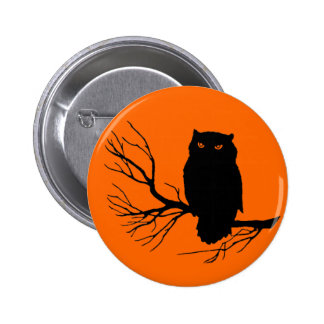 Customizable Spooky Owl 2 Inch Round Button