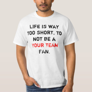 Customizable Sports Team Fan Shirt