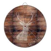 Customizable Spray Painted Deer on Wood Dartboard