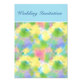 "Customizable Spring Primroses Wedding Invitation 5"" X 7"" Invitation Card"