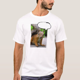 Customizable Squirrel Thought Bubble Say Anything T-Shirt
