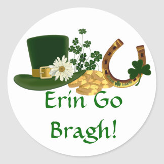 CUSTOMIZABLE St. Patrick's Day Design Classic Round Sticker