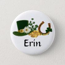 CUSTOMIZABLE St. Patrick's Day Design Pinback Button