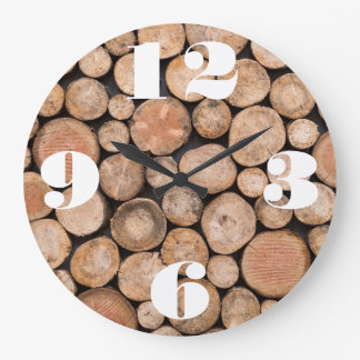Customizable Stack of Wood Large Clock