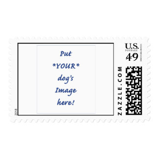 Customizable Stamps: add YOUR dog's Image! Stamp