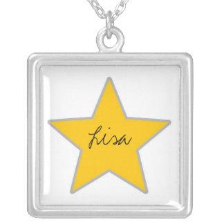 customizable star necklace