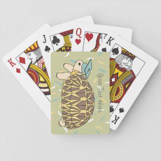 Customizable Star Tortoise Graduation Cards Playing Cards