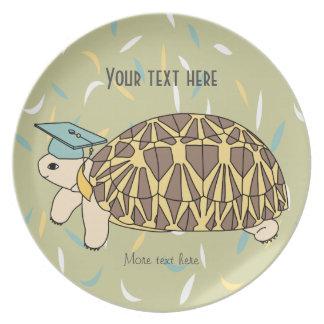 Customizable Star Tortoise Graduation Plate