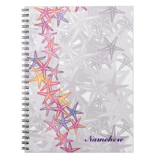 Customizable: Starfish Spiral Notebook