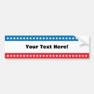 Customizable Stars and Stripes Design Bumper Sticker