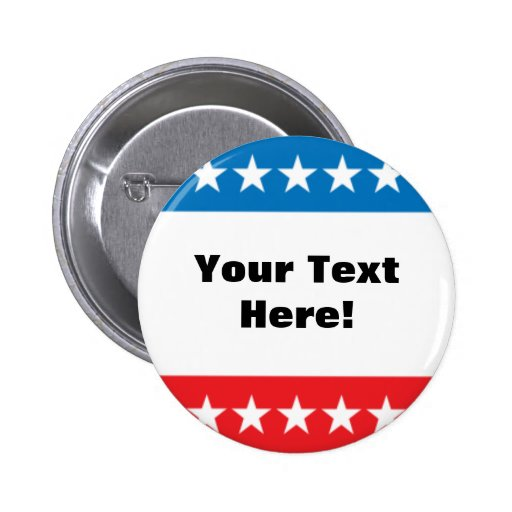 Customizable Stars and Stripes Design Button