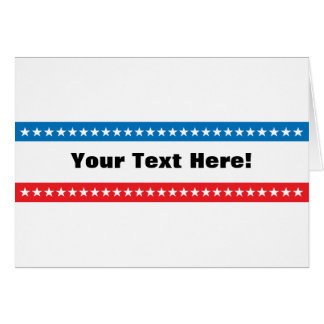 Customizable Stars and Stripes Design Greeting Card