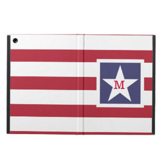 Customizable Stars and Stripes USA Momogram Cover For iPad Air
