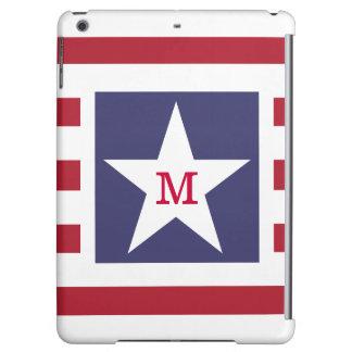 Customizable Stars and Stripes USA Momogram iPad Air Cases