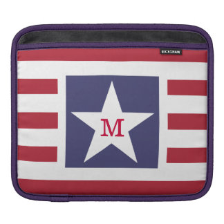 Customizable Stars and Stripes USA Momogram Sleeve For iPads