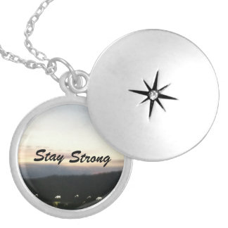 Customizable Stay Strong Necklace Locket