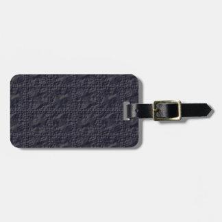 Customizable Steel Blue Crinkle Look Luggage Tag