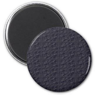 Customizable Steel Blue Crinkle Look Refrigerator Magnet
