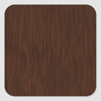Customizable Stickers with Dark Wood Grain Look