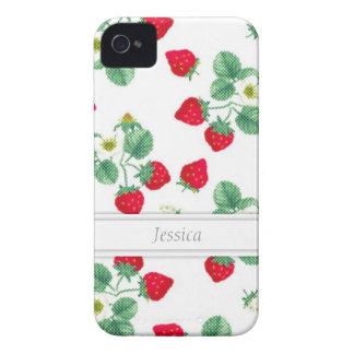 Customizable Strawberry iPhone 4/4S Case