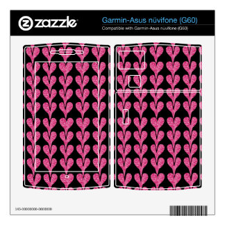 Customizable Stretched Crackle Hearts Garmin Asus Nuvifone Skin