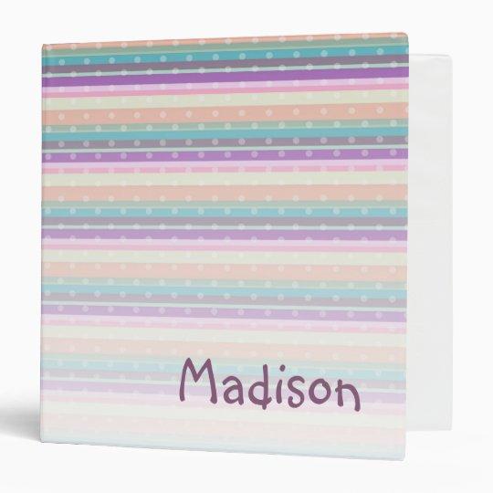 Customizable Striped Binder (Purple Multi)